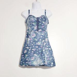 Lola Rae Juniors Denim Floral Dress